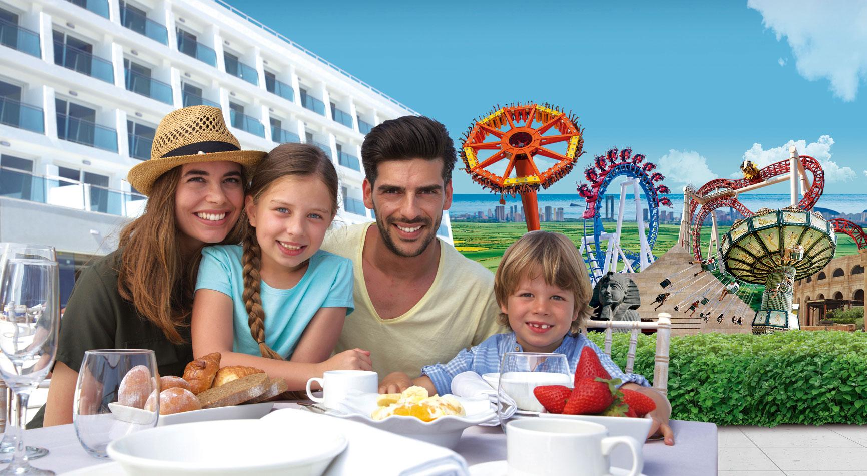 Familia en el Hotel de Terra Mitica