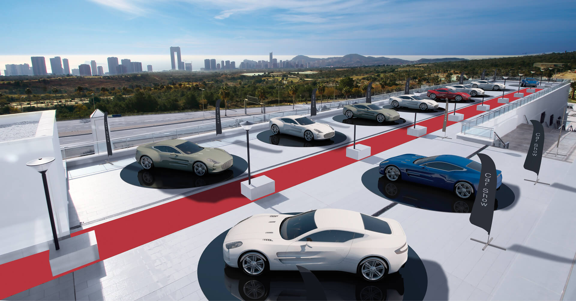 Presentación de automóviles en Grand Luxor Hotels